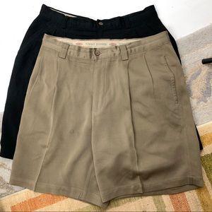 Tommy Bahama Lot of 2 Mens Size 32 Silk Shorts
